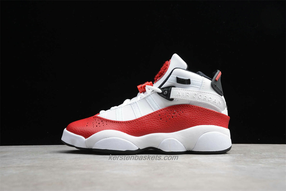 Chaussures Air Jordan 6 RINGS 322992 120 Rouge / Blanc