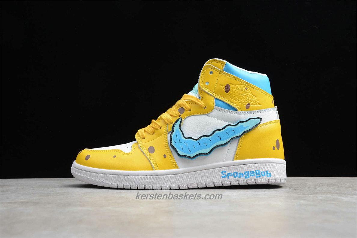 air jordan jaune et bleu